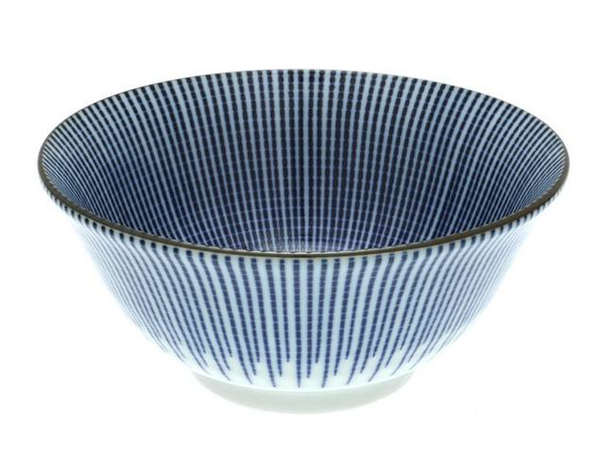 "Blue Spoke 6"" Bowl"