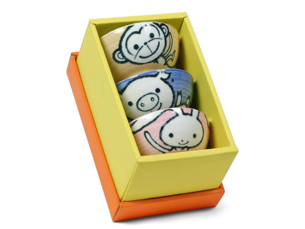 Animal Design Children's Rice Bowl Set