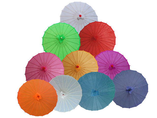 Solid Color Nylon Fabric Parasol - 36 in.