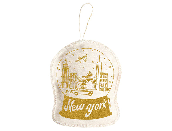 Maptote New York City Ornament Gold