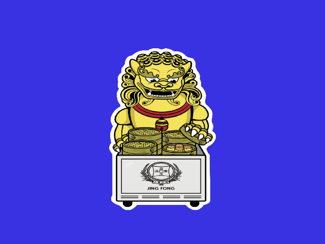 Jing Fong Lion Sticker