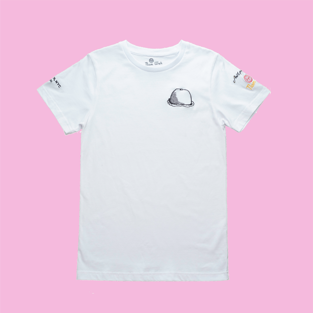 "Nom Wah White Short-Sleeved ""Bao"" T-Shirt"