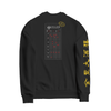 Back of Jing Fong black sweatshirt