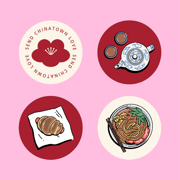 Send Chinatown Love sticker sheet
