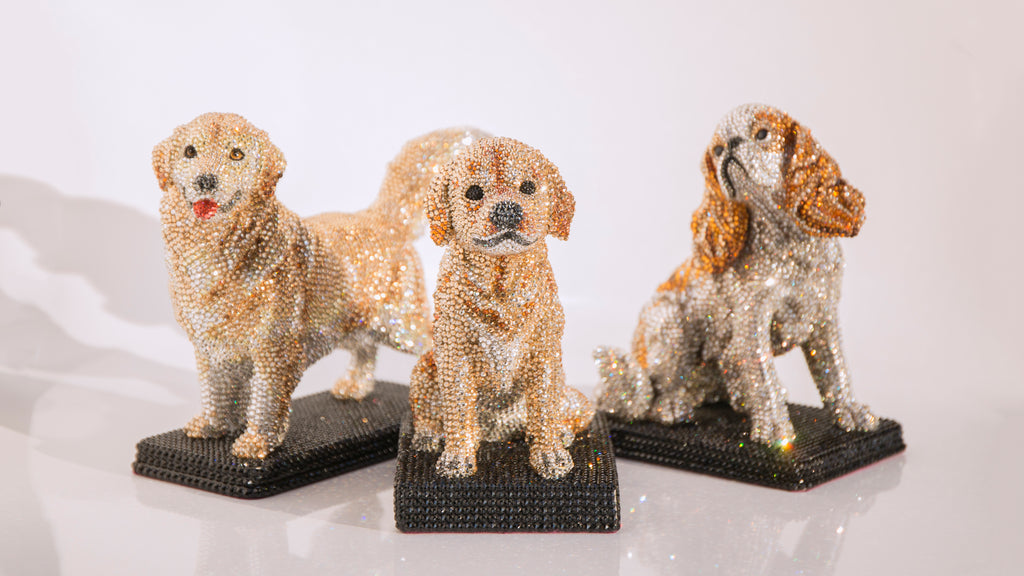 Jimmy Crystal Large Dog Figurines
