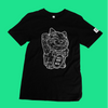Front of lucky cat T-shirt