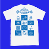 Blue and white Welcome to Chinatown T-shirt