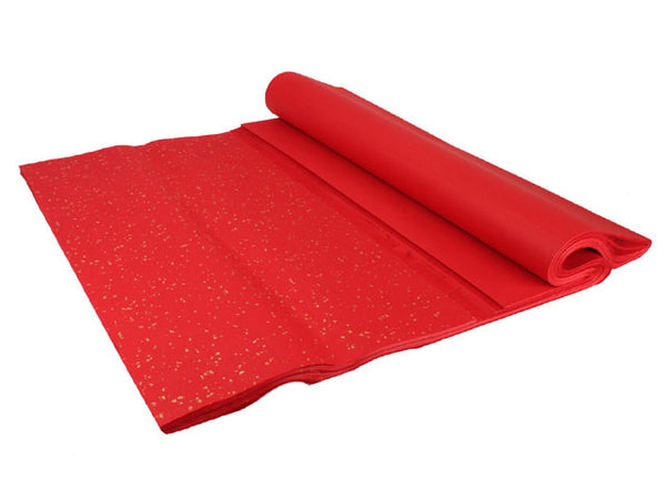 Gold Speckled Rice Paper - Red