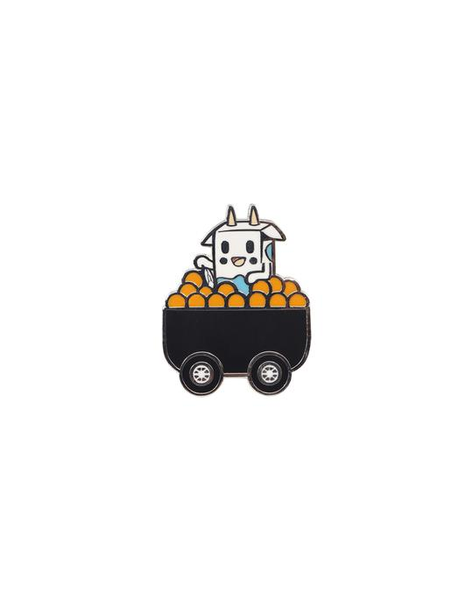 cow in orange cart pin