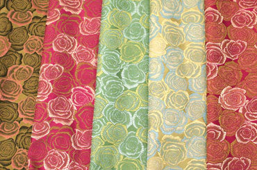 Silk / Rayon Roses Brocade Fabric
