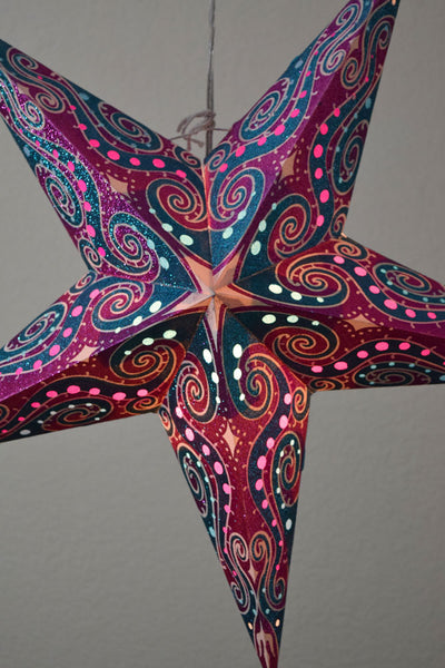 5-Point Paper Star Lantern Ornaments