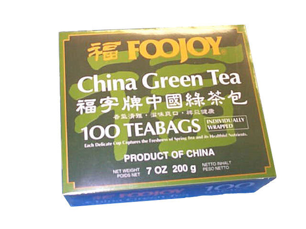 Foojoy China Green Tea - 100 Teabags