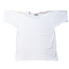 Fitted lose to comfort Swan Brand basic white cotton tee laid flat out