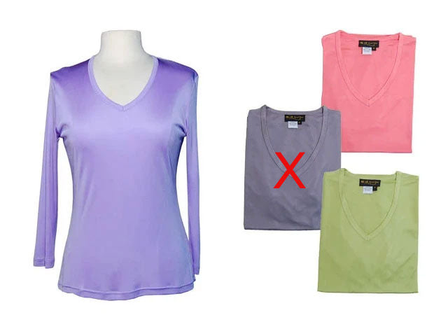 Ladies Interlock Silk 3/4 Sleeve T Shirt  (50% OFF - Final Sale)