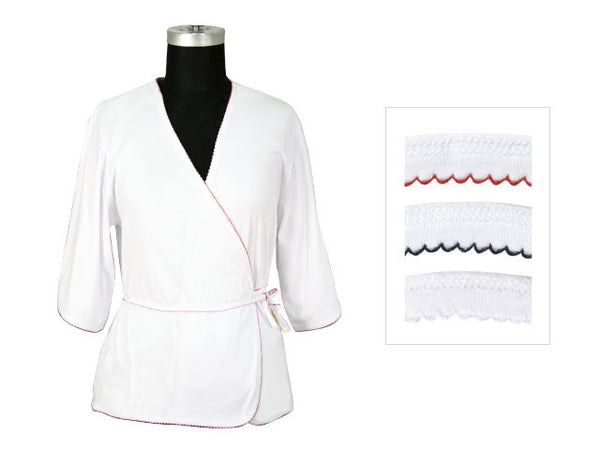 White Long Sleeves Short Robe