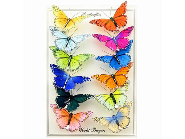 Multi-Color Monarch Butterfly Garland - Clip