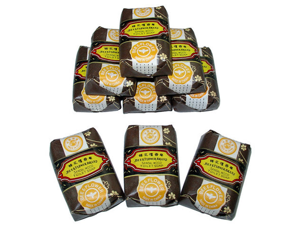 Bee & Flower Brand Sandalwood Soap (Small, 3 packs)