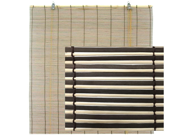 Two Tone Matchstick Bamboo Blinds (#3)