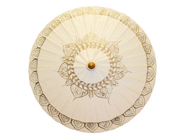Gold Tibetan Flame Canvas Parasol