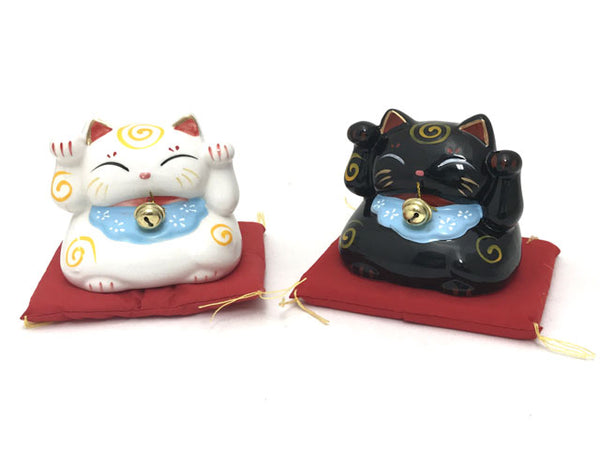 "Lucky Cat Coin Bank with Cushion - 3.75""H"