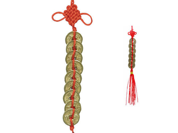 Coins Ornament with Red Tassel ( Out of Stock All Colors )