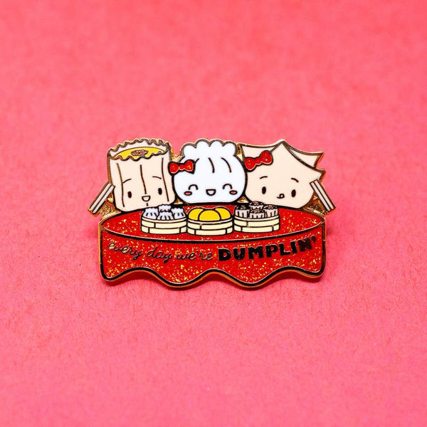 Wonton in a Million Every Day We're Dumplin' Enamel Pin