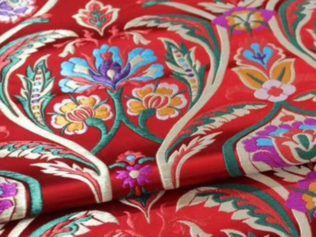 Bell Flower Brocade Fabric (CM)