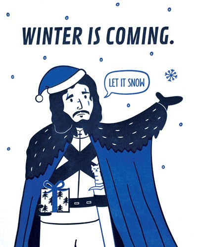 Handcrafted Cards: Winter is Coming
