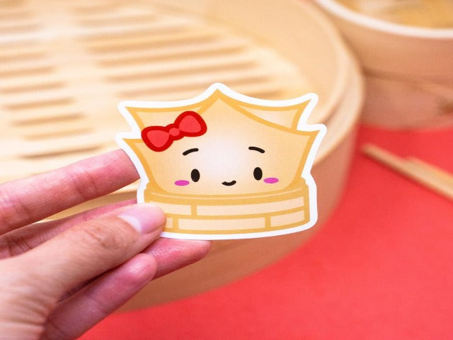 Laptop Dim Sum Sticker: Wonton