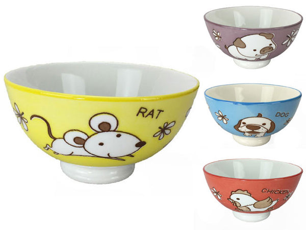 A set of four playful bowls perfect for any child's snack or meal