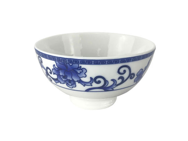 Blue on White Peony Design Bowl