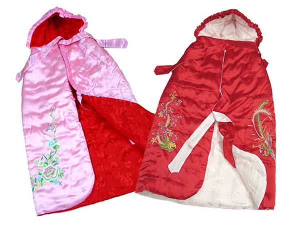 Embroidered Design Infant / Children Quilted Cloak