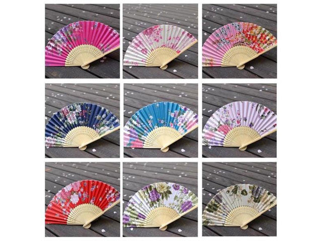 Printed Fabric Folding Fan