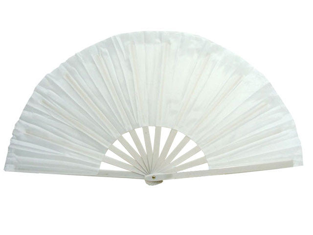 Solid Color Nylon Fabric Fan - 13""