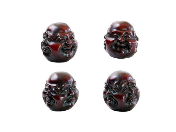 4 Faces Buddha Head - Resin (Red)
