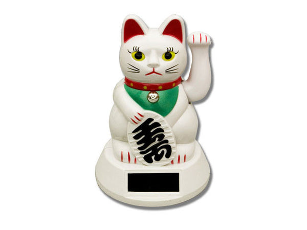 Dual Powered (Solar & Battery) Hand Motion Lucky Cat