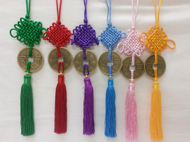Large Coin Ornament with Tassel