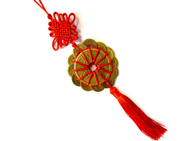 Extra Large Coins Ornament with Tassel (12 + 2)