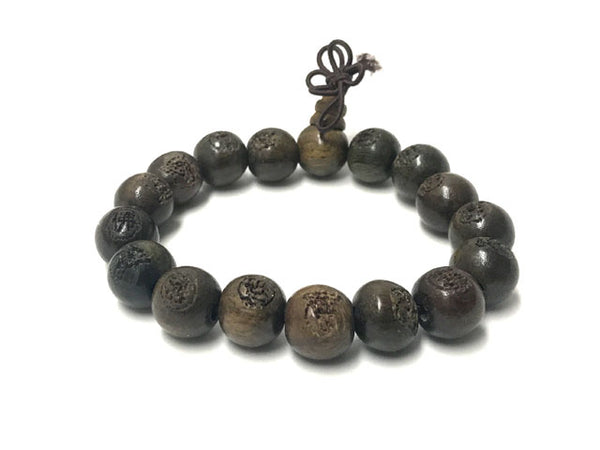 Wooden Beaded Bracelet - Tea Color