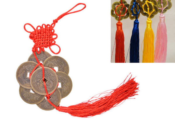 Coins Ornament with Tassel - 8 Hex-Coins