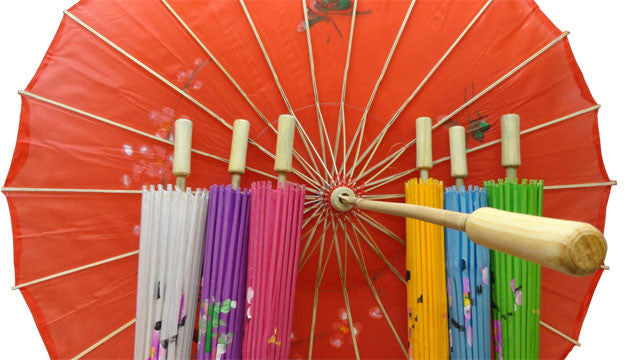 Hand Painted Nylon Parasol - 32in.