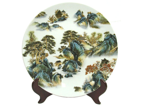 Colorful Design Ceramic Display Plate (with Stand)