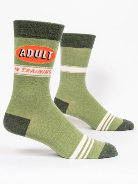 Socks that say adult in training