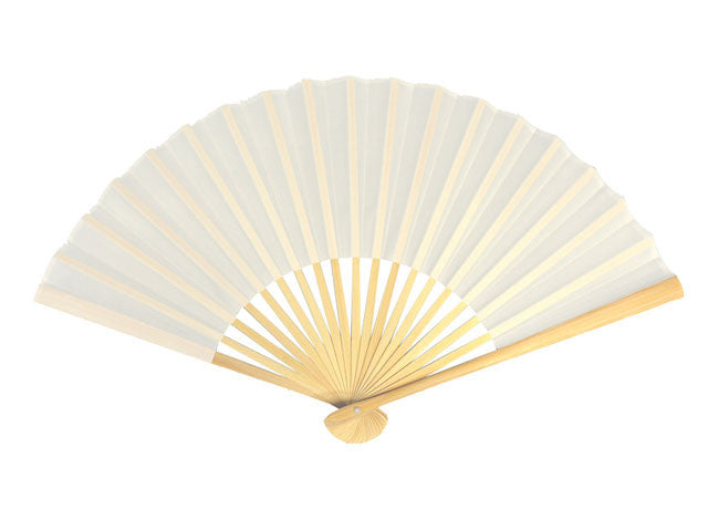 White Nylon Fabric Fan - 9 in.