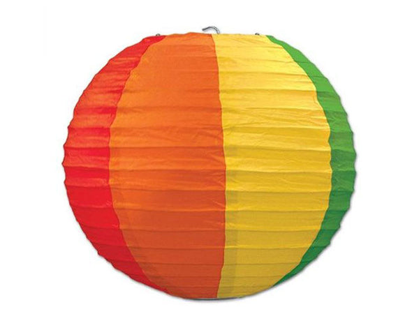Rainbow Color Paper Lantern - 14 in.