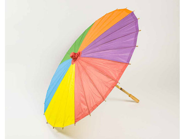 Rainbow Color Paper Parasol