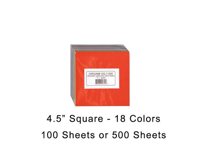 Assorted Solid Color Origami Paper
