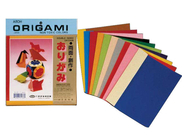 Assorted Double Sided Solid Color Origami Paper