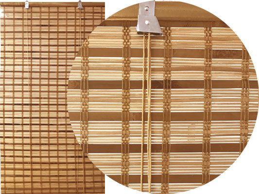 Brown Tortoise Bamboo Blinds