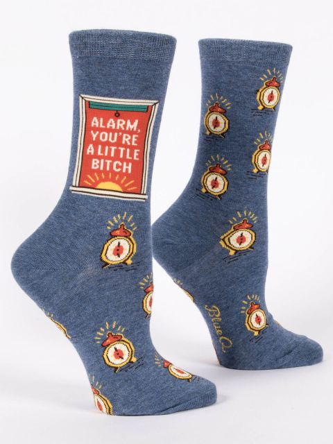 Women's Funny Socks: Alarm, You're a B***h